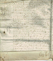 Parchemin 1554, Dans La Somme, Région D'Abbeville, En Ponthieu, Cramont, Saisine Pour Le Don Du Fief Des Hériaulx - Historical Documents