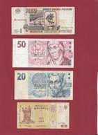 Autres-Europe 4 Billets Dans L 'état Lot N °2  (15) - Autres - Europe