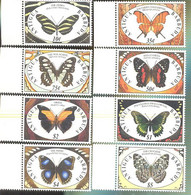 ANTIGUA & BARBUDA  1401-8 MINT NEVER HINGED SET OF STAMPS OF BUTTERFLIES-INSECTS   # S-034-1  ( - Papillons