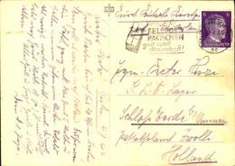 1944, Ansichtskarte Aus Berlin-Charlottenburg In Das KLV-Lager Schloss EErde B. Ommen, Post Zwolle - Cartas