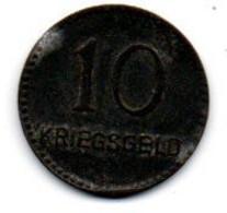 Kaiserslautern 10 Pfennig 1917 Kriegsgeld TB+ - Monetari/ Di Necessità