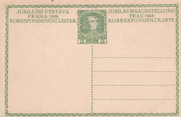 """Austria Österreich 12a - Entier Postal Neuf """"Jubiläumausstellung Prag 1908"""" - Enteros Postales"""
