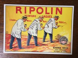 RIPOLIN PEINTURE LAQUEE GAND 1913 - Publicidad