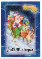 UNICEF - MODERN POSTCARD - FINLAND - CHRISTMAS - SANTA CLAUS - REINDEER - CHILDREN -  USED  2008 - Unclassified