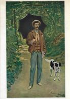 Claude Monet - Man With Parasol - Schilderijen