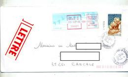 Lettre Cachet Lons Le Saunier Annexe GA  Jura Sur Vinette Guadeloupe Bord - Manual Postmarks
