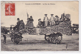 ROSTRENEN : La Cavalcade - Le Char Des Hoteliers - état (plis) - Sonstige Gemeinden