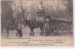 MARSEILLE : Carte Postale De Voeux Des Charretier Roux Et Chargeur Antonin En 1909 (éboueurs)  - Très Bon état - Other