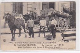 MARSEILLE : Carte Postale De Voeux Des Charretier Séraphin Et Chargeur Antonin En 1907 (éboueurs)  - Bon état - Other