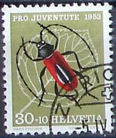 Schweiz Suisse Pro Juventute 1953: Bockkäfer Zu WI 151 Mi 591 Yv 542 Mit Stempel ZÜRICH 5.IV.54 (Zumstein CHF 12.00) - Used Stamps