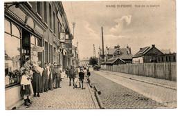 Haine St-Pierre - Rue De La Station - Commerce - Animée - Circulé - 2 Scans - La Louvière