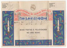 CTT  Portugal Telegrama De Boas Festas BF1 Christmas Greetings Telegram - Brieven En Documenten