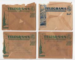 CTT  Portugal  4 Envelopes De Telegrama De Boas Festas - Brieven En Documenten