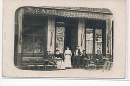 CARTE PHOTO A LOCALISER : Paris(?), Cafe Comptoir Rosset - Tres Bon Etat - Photos