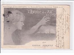 Carte Postale Illustrée Par De Mestral - La Critique - (l'Aurore) (autographe D'Emile STRAUSS) - état - Other Illustrators