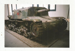 Photographie , 150 X 100 Mm , Militaria ,char Militaire ,LITTORIO - War, Military