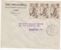 TOGO ENV 1953 LOME LETTRE AVION => MARSEILLE - Covers & Documents