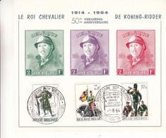 Belgique - Document De 1964 ° - Oblit Bruxelles - Roi Albert 1er - Roi Chevalier - Soldats - Gendarmes - - Cartas