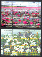Thailand, 2000, Mountains, Flowers, Scenery, Landscape, MNH Sheets, Michel 1984-1995 - Tailandia