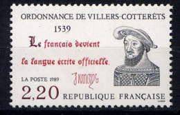 FRANCE - 2609** - ORDONNANCE DE VILLERS-COTTERÊTS - Unused Stamps