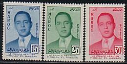 MAROC 1957 Y&T N° 377 A 379 N** - Morocco (1956-...)