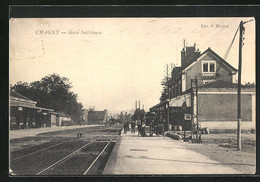 CPA Chagny, Gare Intérieure - Chagny
