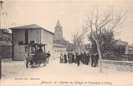 CPA Allauch - 5 - Entrée Du Village Et L'omnibus à Troley - Allauch
