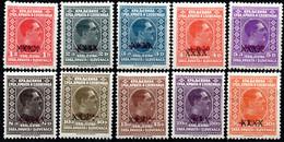 179.YUGOSLAVIA.1928 KING ALEXANDER.MICH.212-221,SC.53-62 MH.#62 30D. LIGHT THIN - Neufs