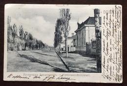 SOFIA - BULGARIA - CARTOLINA  FERDINAND - BOULEVARD  PER GENOVA - ITALY  DEL 27 X 910 - Jugoslawien