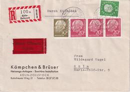 BUND 1959 LETTRE RECOMMANDEE EXPRES DE KÖLN - Storia Postale
