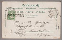 CH Heimat AR Speicher-Schwendi 1903-10-05 (St.Gallen) AK Nach  Hamelenberg St.Georgen - Covers & Documents