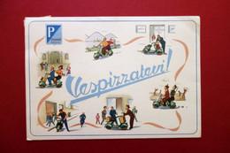 Cartolina Originale Pubblicitaria Vespa Piaggio Vespizzatevi Viaggiata 1952 - Reclame