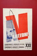 Cartolina Originale Abetone Campionati Assoluti Di Sci 22-28/2 1943 Viaggiata - Andere