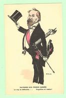 R135 - Militaria - Guerre 1914-18 - Illustration Satirique Signée Amor, Caricature, Humour - Raymond Aux Poings Carrés - War 1914-18