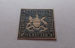 Württemberg 18 Kreuzer Freimarke 1857 ? German States Germany Stamps RARE ? - Wuerttemberg