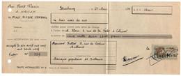 PSEUDO FISCAL  / 1939 TIMBRE DE COURS D'ECOLE DE COMMERCE SUR LETTRE DE CHANGE  (ref 8309a) - Fiscale Zegels
