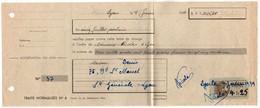 PSEUDO FISCAL  / 1939 TIMBRE DE COURS D'ECOLE DE COMMERCE SUR LETTRE DE CHANGE  (ref 8309c) - Fiscale Zegels