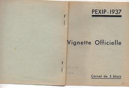 Carnet Complet PEXIP 1937 - Légères Rouuseurs - Cote Y&T : 150€ - Philatelic Fairs