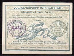Coupon-Réponse (CRI) 6 Cents Etats-Unis - CaD Du 5 Avril 1921 - Cupón-respuesta