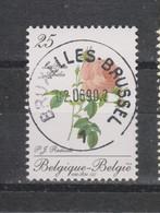 COB 2373 Oblitération Centrale BRUXELLES Fleur Rose Amélie - Used Stamps