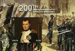 Malta - 2021 - 200th Anniversary Of Napoleon Bonaparte Death - Mint Souvenir Sheet - Malta