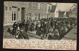 La Hulpe - Visite Du Prince Et La Princesse Albert à L'Oeuvre Du Grand Air - 1903 - Edit. Th. Van Den Heuvel - 2 Scans - La Hulpe