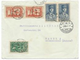 ENVELOPPE  ORAN / 1941 POUR BALE BASEL SUISSE / PETAIN - Storia Postale