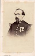 Carte De Visite Cdv Albumine, Pierre Gonelle Metz, Militaire 84° Médaille - War, Military