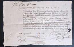 Quittance De Taille 1723 Saint Etienne Quart De Papier - Manoscritti