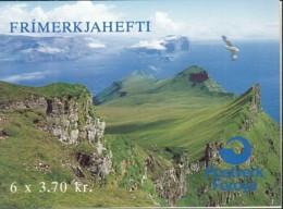 FÄRÖER  Markenheftchen 4, Gestempelt, Vögel, 1991 - Faroe Islands