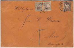 Bayern - 2+5 Pfg. Wappen/Porto, Unterfrank. Ortsbrief Nürnberg 1895 - Bavaria