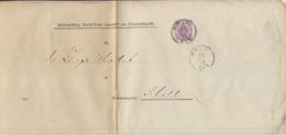 Württemberg - 5 Pfg. Dienst-GA-Umschlag/Ortsbrief Hall 1883 - üblicher Bug - Wuerttemberg