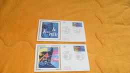 LOT 2 ENVELOPPES FDC DE 1994.../ CACHETS L'EUROPE ET LES DECOUVERTES 67 STRASBOURG... - 1990-1999