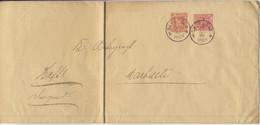 Württemberg - 10 Pfg. Dienst-GA-Umschlag+Zusatz, Backnang - Marbach 1898 - Wuerttemberg